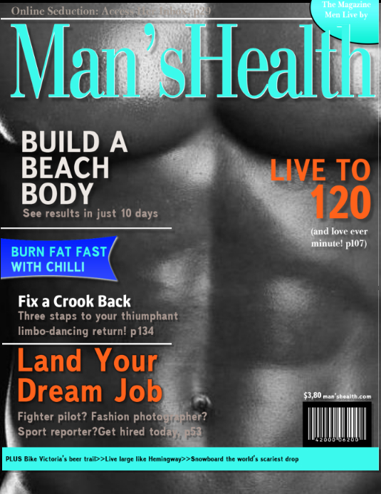 mens health magazine cover template postermywall