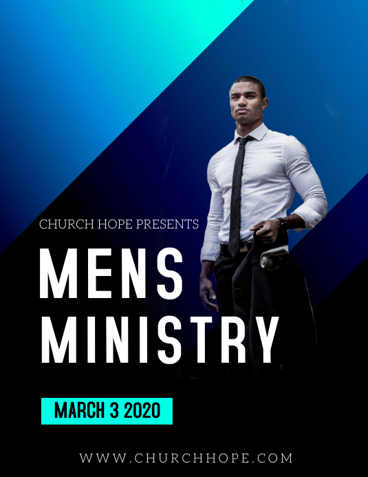 MENS MINISTRY MEET SIMPLE Pamflet (Letter AS) template