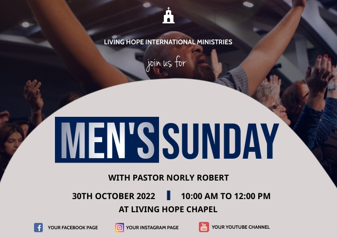 Mens Sunday A3 template