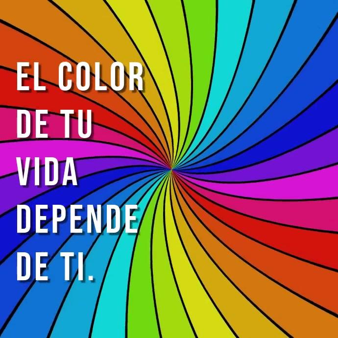 mensaje de motivación El color de tu vida template
