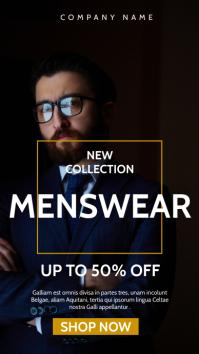 menswear fashion suits advertisement เรื่องราวบน Instagram template