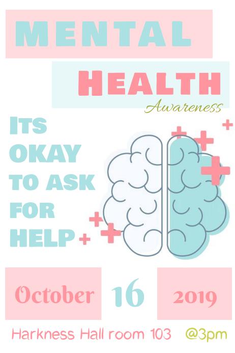 Mental Health Awareness Iphosta template