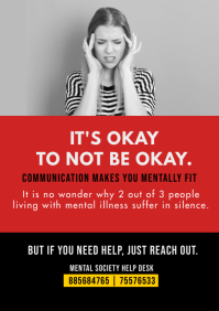 Mental Health Awareness Flyer Template A4
