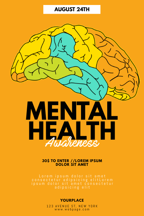 Mental Health Awareness Flyer Template | PosterMyWall
