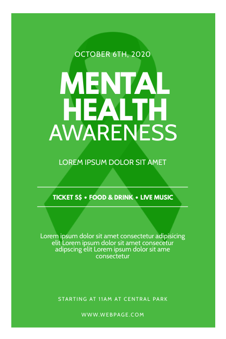 mental health awareness Flyer Template   PosterMyWall