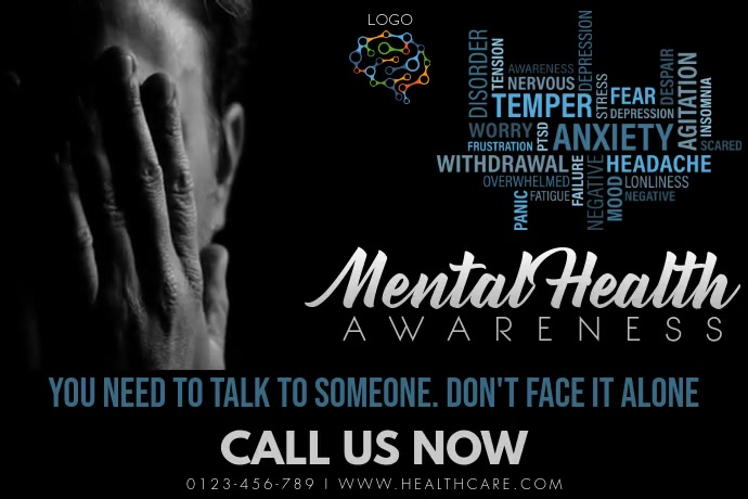 Mental Health Awareness Template โปสเตอร์