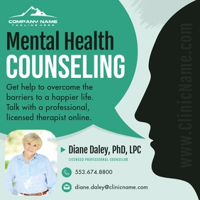 Mental Health Counseling Instagram Image