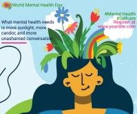 Mental health Persegi Panjang Sedang template
