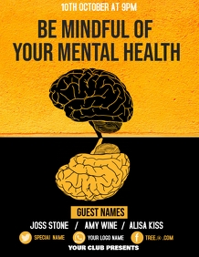 Mental health flyers, event flyers