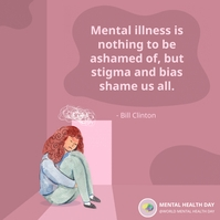 Mental illness quote social media post Instagram Plasing template