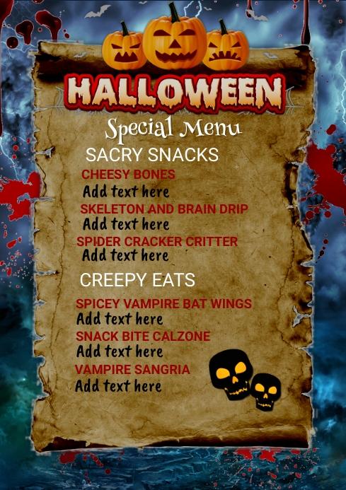 Menu,Halloween menu,Halloween sale,party Poster template