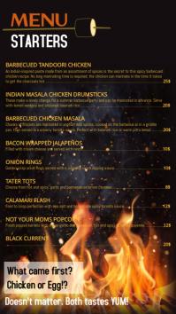 menu card design template Digital na Display (9:16)