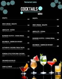 menu card/menu template Affiche/Panneau mural