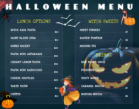 Menu Design For Halloween Template