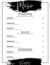 menu design template Flyer (US Letter)