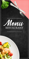 MENU Roll Up Banner 3' × 6' template