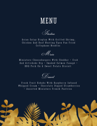 Menu Flyer (US Letter) template