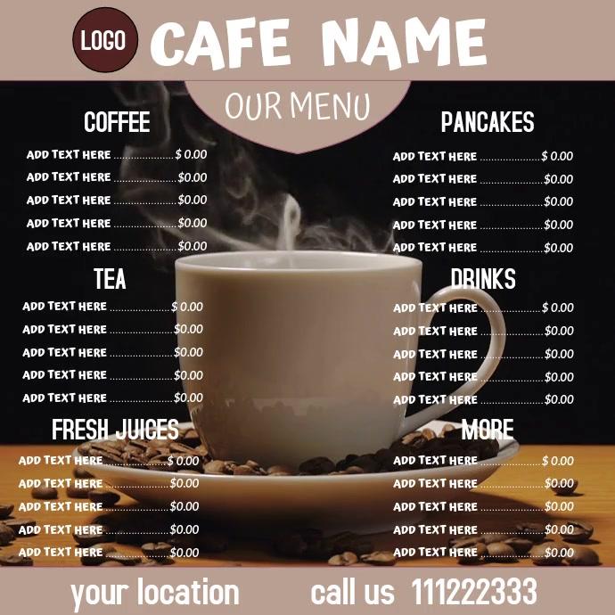 menu Instagram-bericht template