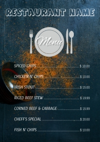 menu A1 template