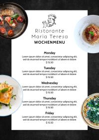Menu Dinner Restaurant Flyer Card Chalk Board A4 template
