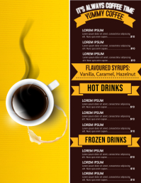 Menu flyer, Coffee flyers template