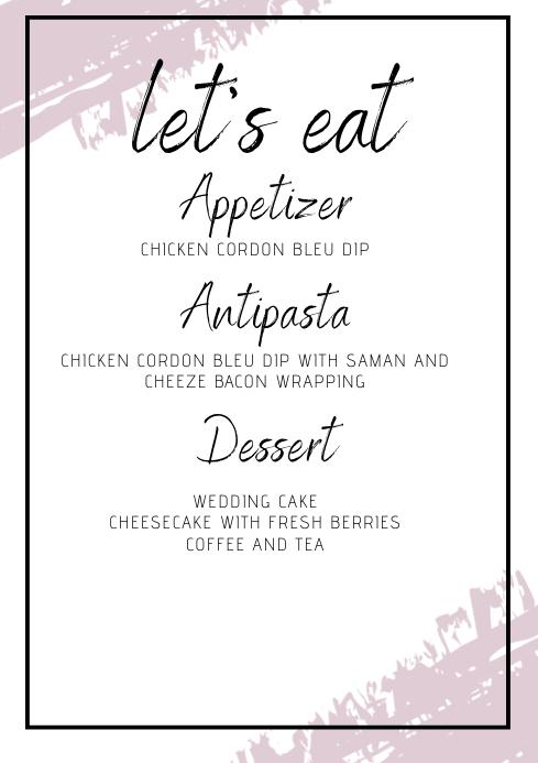 menu flyer A4 template