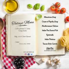 Menu Flyer Wpis na Instagrama template