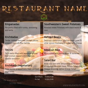 Menu Flyer Instagram Post template