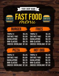 19 940 customizable design templates for bar menu template