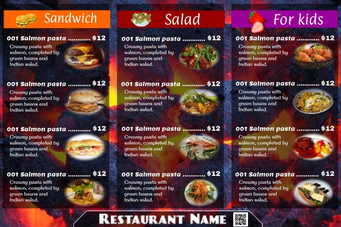 restaurant menu postermywall template postermywall