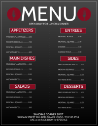 1 300 customizable design templates for sub menu flyer postermywall