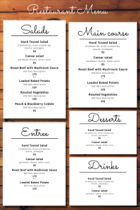 Menu Template Plakat