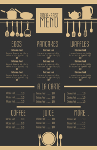 Good Breakfast Menu · Promotion Sale Flyer Template. Similar Design Templates  Breakfast Menu Template