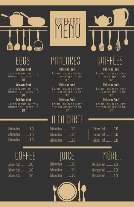 customize 1 800  menu design templates