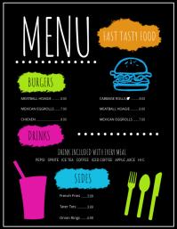 menu flyers free templates
