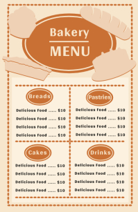 Customizable design templates for bakery menu postermywall menu thecheapjerseys Images
