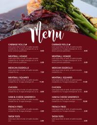 Restaurant Flyer Templates PosterMyWall - Menu brochure template