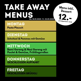 Menu Plan weekly Meals Restaurant Cantine ad