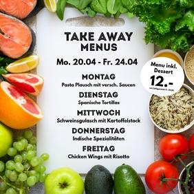 Menu Plan weekly Meals Restaurant Cantine ad