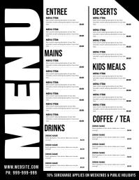 Menu Poster Flyer (Letter pang-US) template