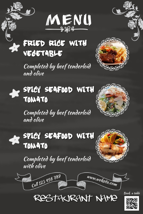 Customizable Design Templates for Restaurant Menu Poster ...