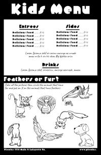 Customizable design templates for kids menu template postermywall menu similar design templates pronofoot35fo Images