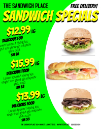customizable design templates for sandwiches postermywall
