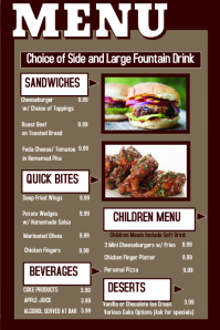customizable design templates for restaurant menu poster postermywall