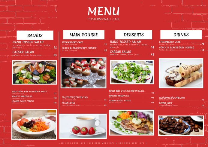 Design Restaurant Menus With Free Templates