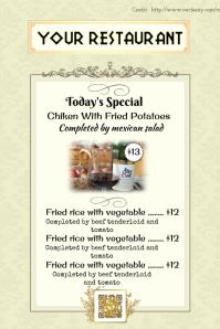 Golden menu template for luxury restaunrants
