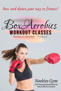 BoxAerobics Fitness Classes Poster