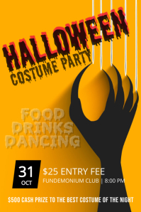 halloween party template Poster