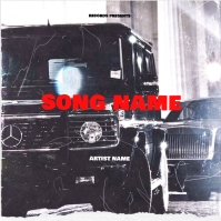 mercedes benz jeep wagon album cover template