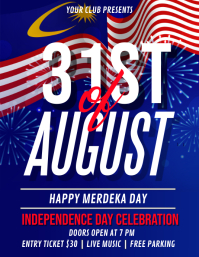 merdeka day, malaysia Flyer (US Letter) template
